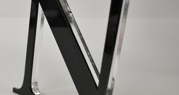 10mm Clear Acrylic with 3mm coloured acrylic
