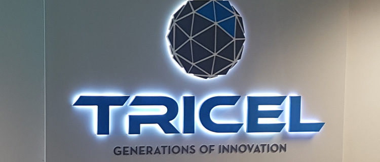 Tricel LED Lit Reception Sign