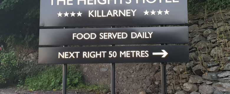 Killarney Heights LED lit sign (by day)