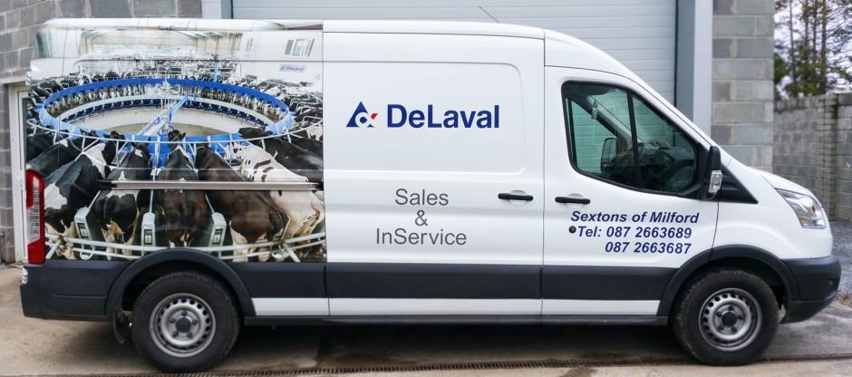 De Laval Vehicle Signage
