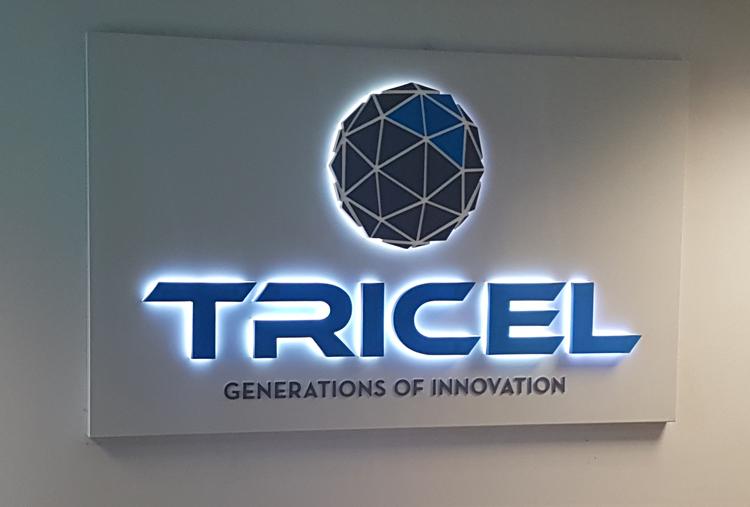 Tricel LED Lit Reception Sign
